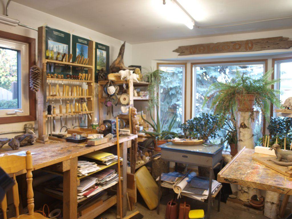 Werner Groeschel carving studio